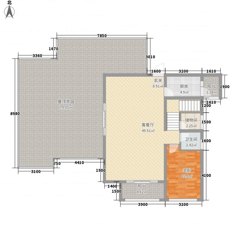 南国・金港湾234.12㎡6#1层户型3室2厅2卫1厨