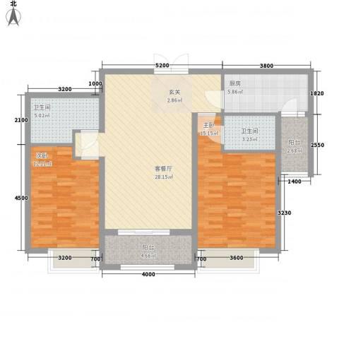 中汇城・御园2室1厅2卫1厨112.00㎡户型图