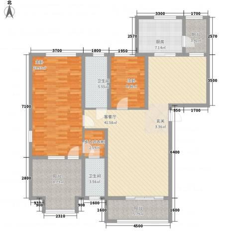 中汇城・御园2室1厅2卫1厨112.75㎡户型图