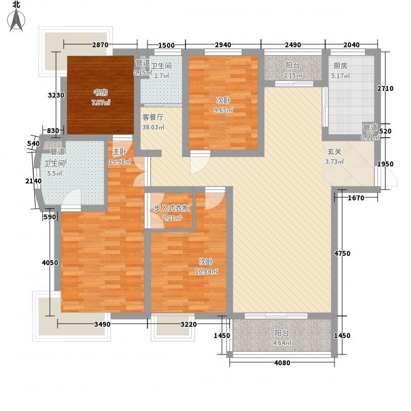 第五元素154.00㎡D3户型4室2厅2卫1厨