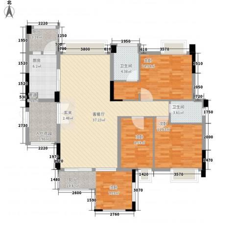荷兰水乡花语岸3室1厅2卫1厨124.00㎡户型图