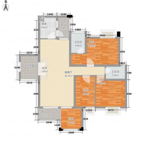 荷兰水乡花语岸3室1厅2卫1厨125.00㎡户型图