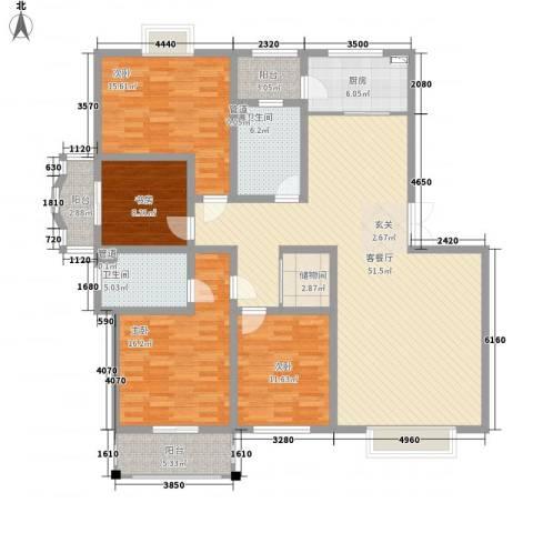 华晋佳苑4室1厅2卫1厨186.00㎡户型图