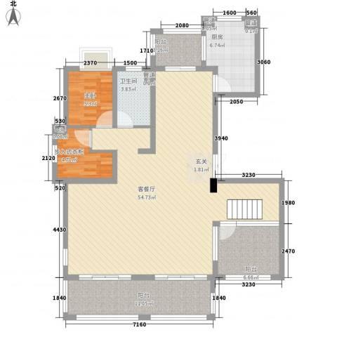 石湖华城1室1厅1卫1厨278.00㎡户型图