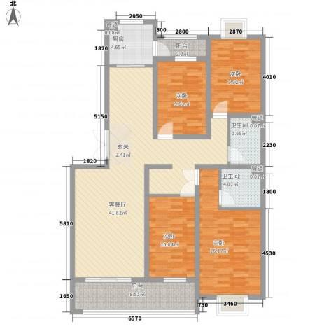 华晋佳苑4室1厅2卫1厨111.25㎡户型图