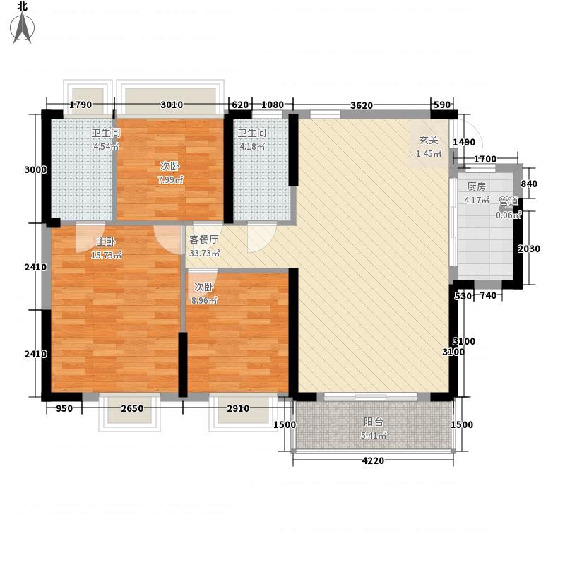 胜利雅苑118.00㎡5栋01单位户型3室2厅2卫1厨