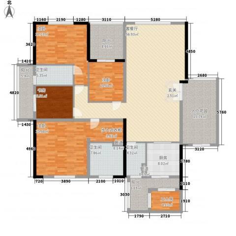 千灯湖一号公馆4室1厅3卫1厨218.00㎡户型图