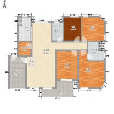 奥林匹克花园4室1厅2卫1厨144.00㎡户型图