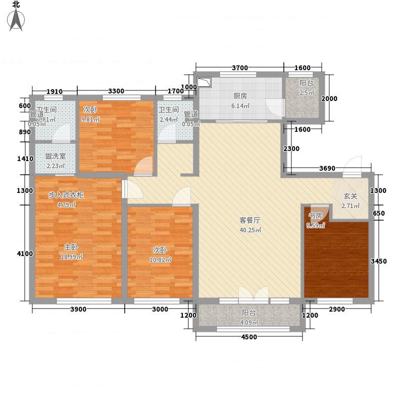 万科・中央公园14.60㎡G户型4室2厅2卫1厨
