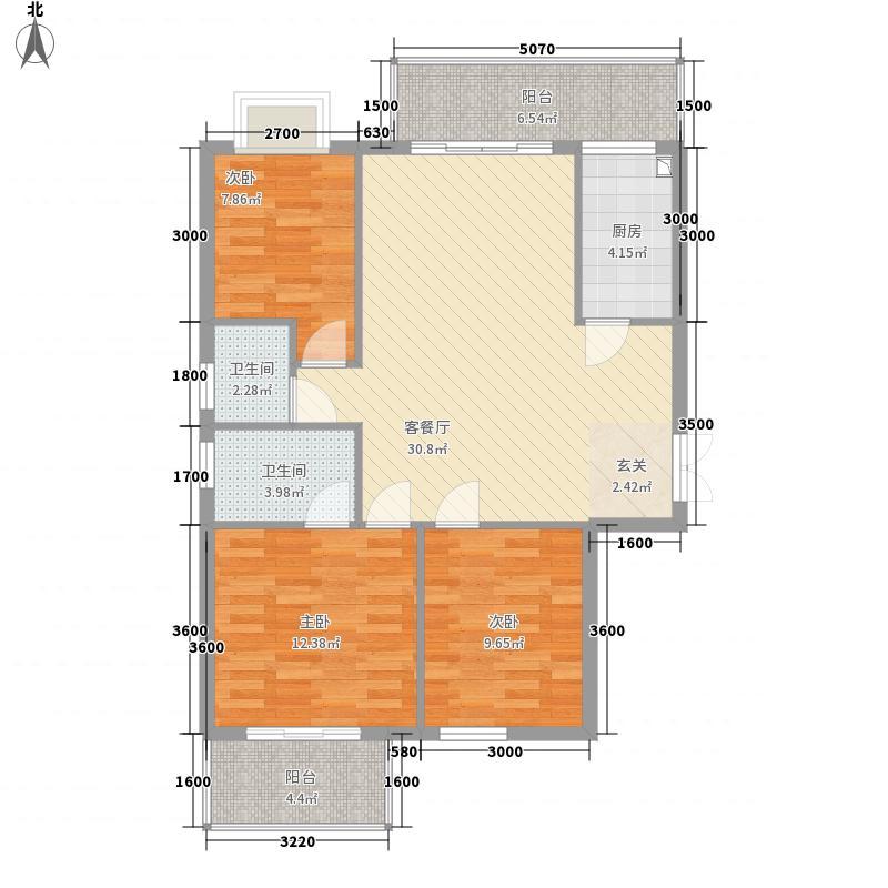万豪尊品1.40㎡A1-1户型3室2厅2卫