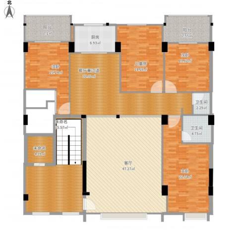 自建房4室1厅2卫1厨281.00㎡户型图