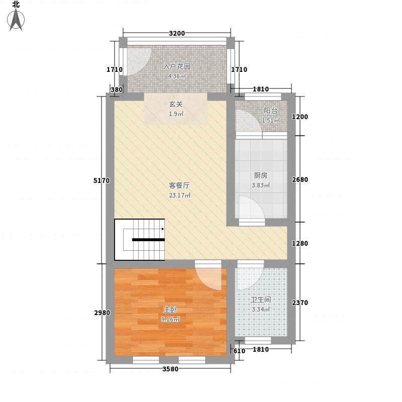 假日森林一期别墅6号楼标准层B3户型