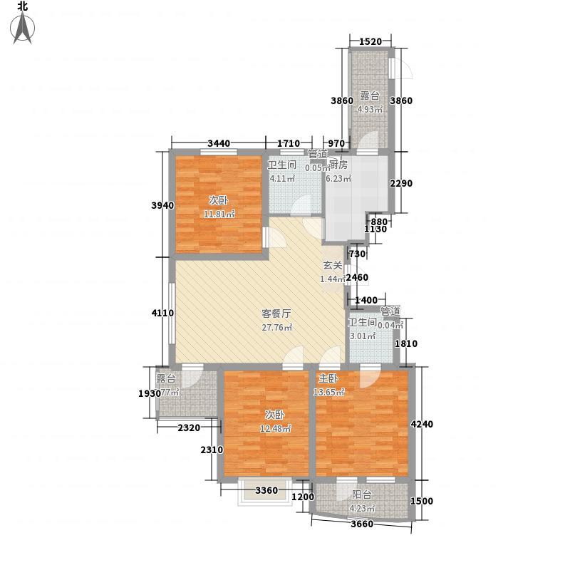 利源帝景115.00㎡-户型3室2厅1卫1厨