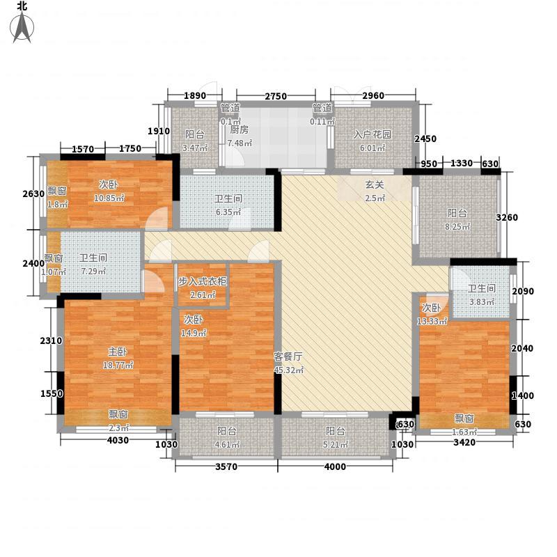 招商观园住宅二期8、9、10栋CD户型4室2厅3卫1厨