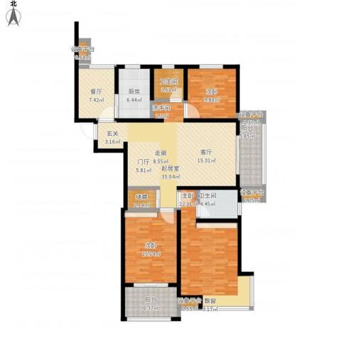 保利香槟国际3室1厅2卫1厨177.00㎡户型图