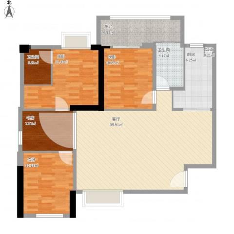 安溪长安大厦4室1厅2卫1厨134.00㎡户型图