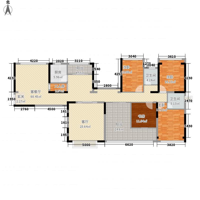 九号院馆182.05㎡九号院馆户型图7、8栋C2奇数层4室2厅2卫1厨户型4室2厅2卫1厨