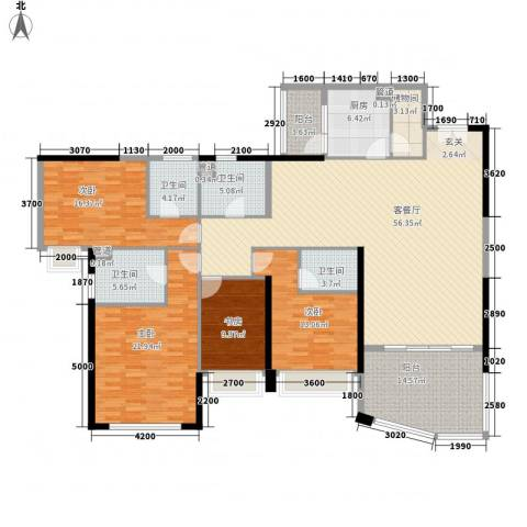 新世纪豪园第一居4室1厅4卫1厨256.00㎡户型图
