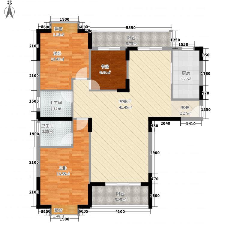 东方明居12.70㎡清雅阁(1、8型)户型3室2厅2卫1厨