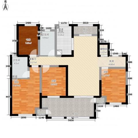 新城公馆4室1厅2卫1厨163.00㎡户型图