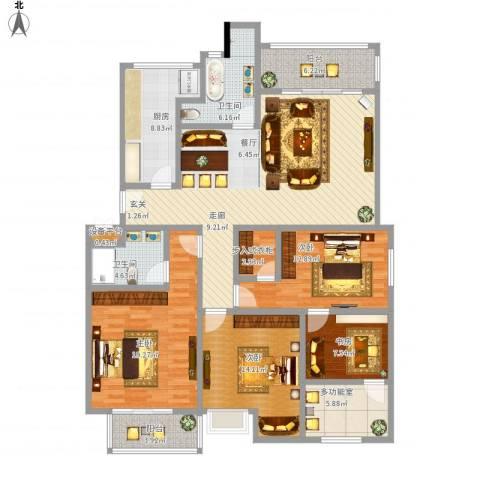 美达浅草明苑4室1厅2卫1厨184.00㎡户型图