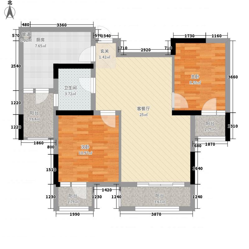天晋72.33㎡一期3/10号楼标准层B1户型