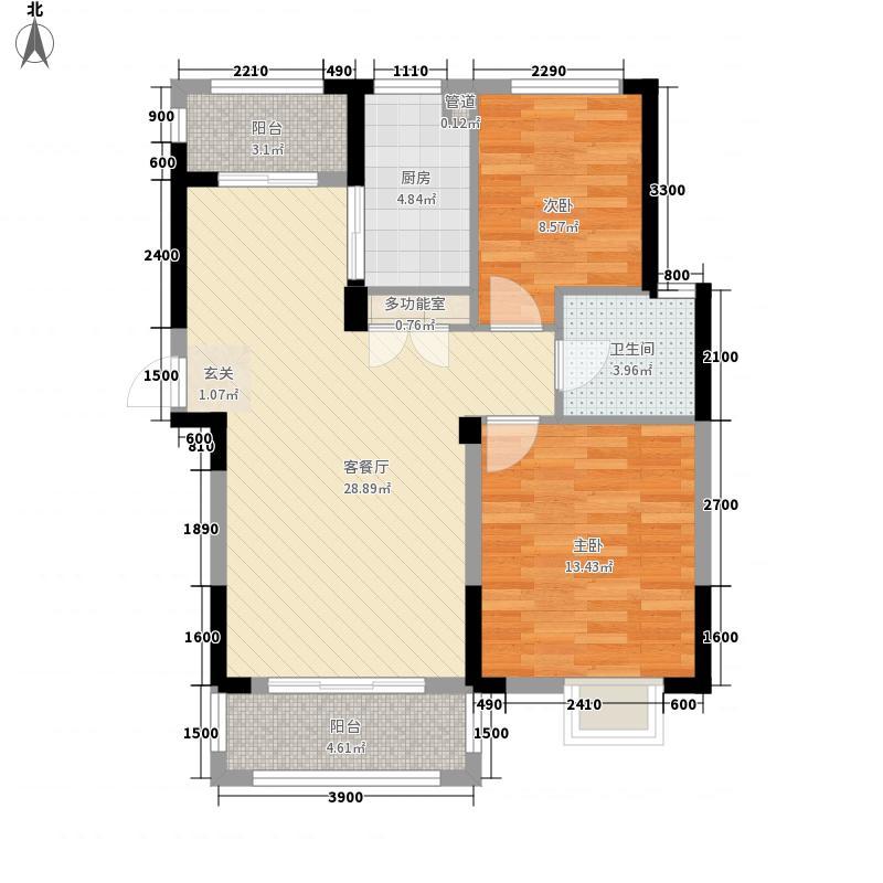 柏林苑7.30㎡2219739_副本户型2室2厅1卫1厨