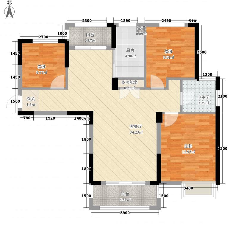 柏林苑1.72㎡32110972_副本户型3室2厅1卫1厨