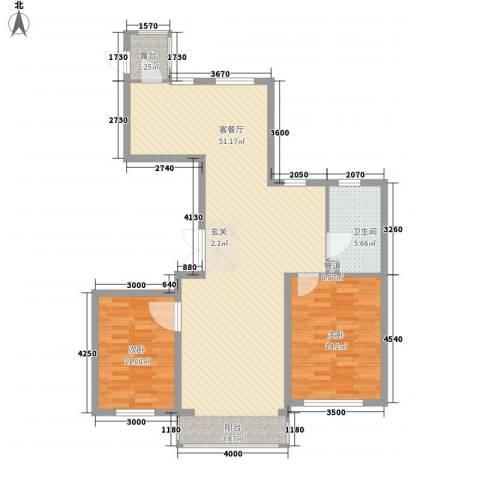 领航国际花园2室1厅1卫0厨117.00㎡户型图