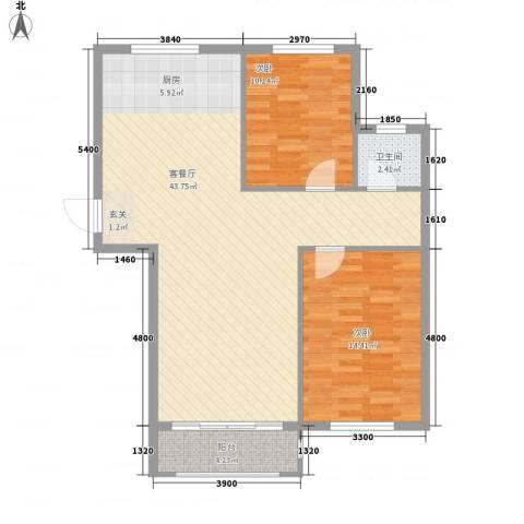 领航国际花园2室1厅1卫0厨103.00㎡户型图