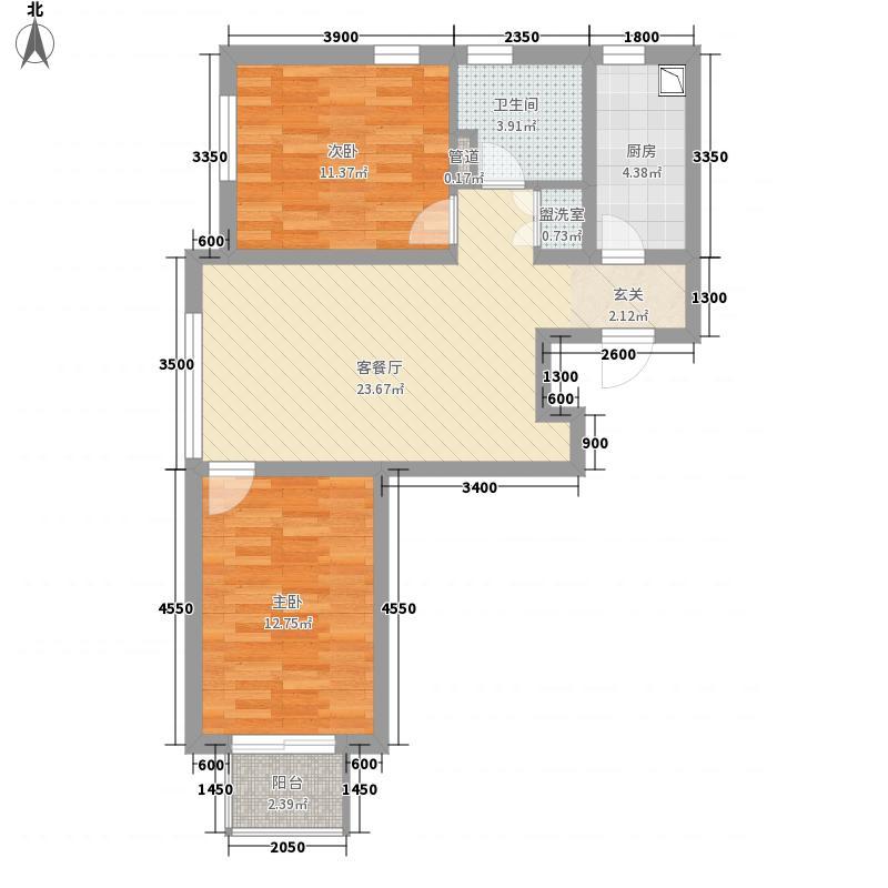 白鸽湾花园广场户型2室