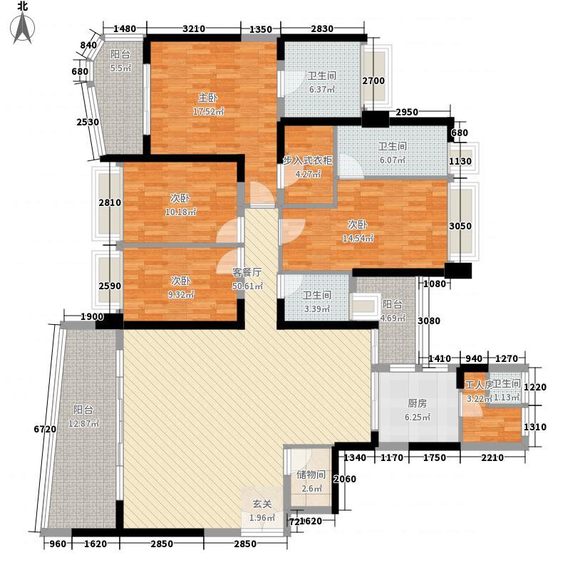 雅居乐约克郡226.00㎡13栋01/0户型5室2厅3卫1厨