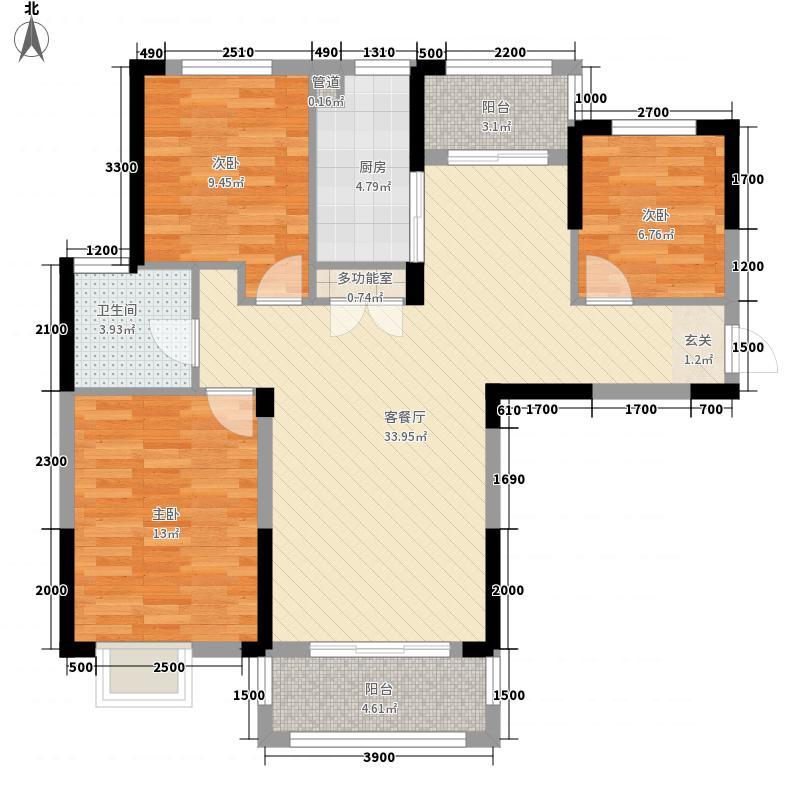 柏林苑11.87㎡32111087_副本户型3室2厅1卫1厨