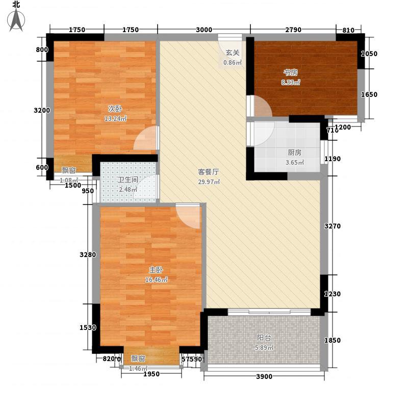 东方明居11.80㎡清雅阁(2、3、6、7型)户型3室2厅1卫1厨