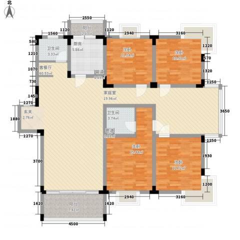 华景西苑4室1厅2卫1厨133.67㎡户型图