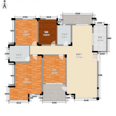 望馨花苑4室1厅2卫1厨288.00㎡户型图