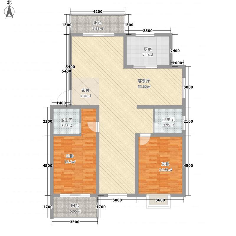 天韵华府126.54㎡B3户型3室2厅2卫1厨