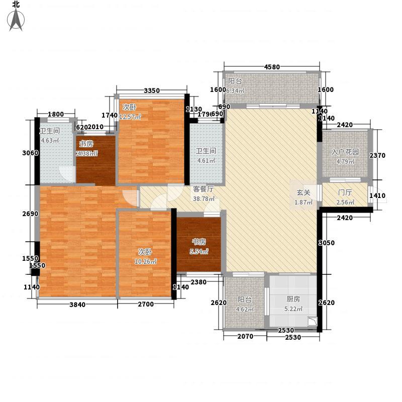盛天公馆|88街区128.00㎡5#楼A座05户型3室2厅2卫1厨