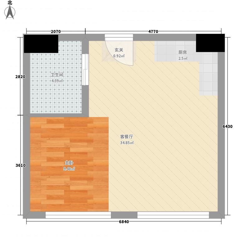亿泰公寓55.00㎡户型
