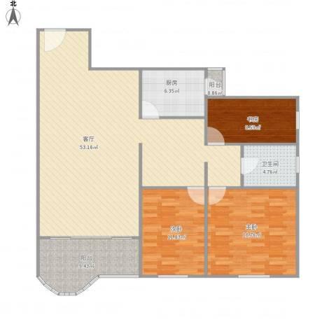 天创世缘311号楼7033室1厅1卫1厨149.00㎡户型图