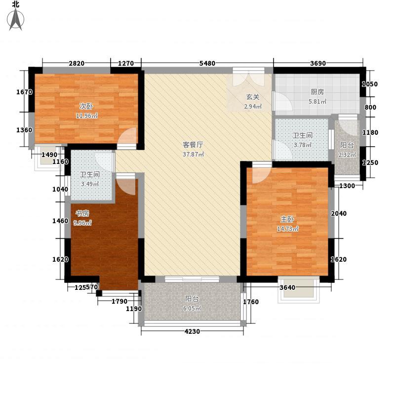 中天万里湘江户型3室2厅1卫1厨