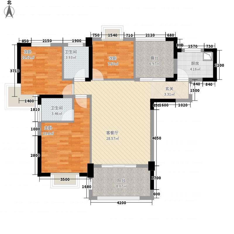 人信・假日威尼斯32.20㎡3225户型3室2厅2卫1厨
