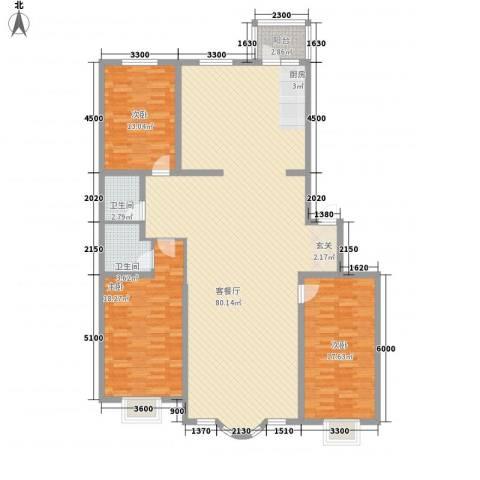 皇城东苑二期3室1厅2卫0厨191.00㎡户型图