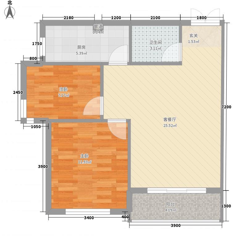 台安2767.16㎡户型2室2厅1卫1厨