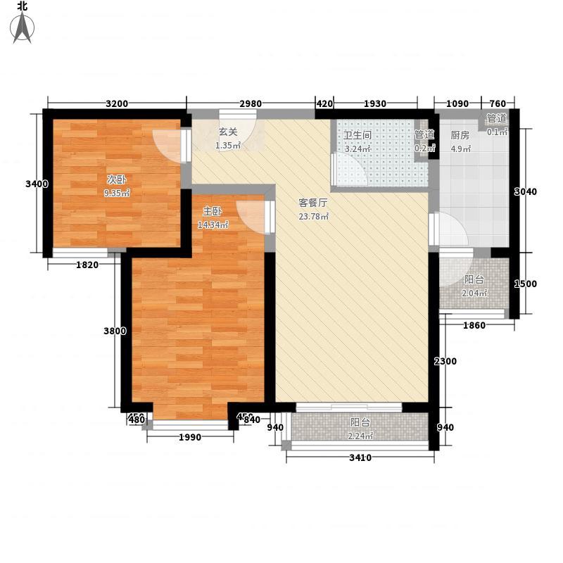 德盛大厦户型2室2厅
