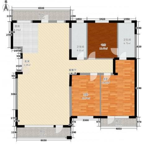 华景西苑3室1厅2卫0厨144.47㎡户型图