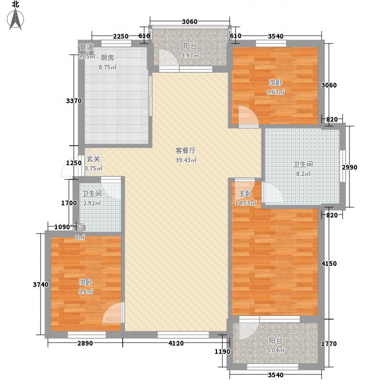 欧风帝景户型3室2厅2卫1厨