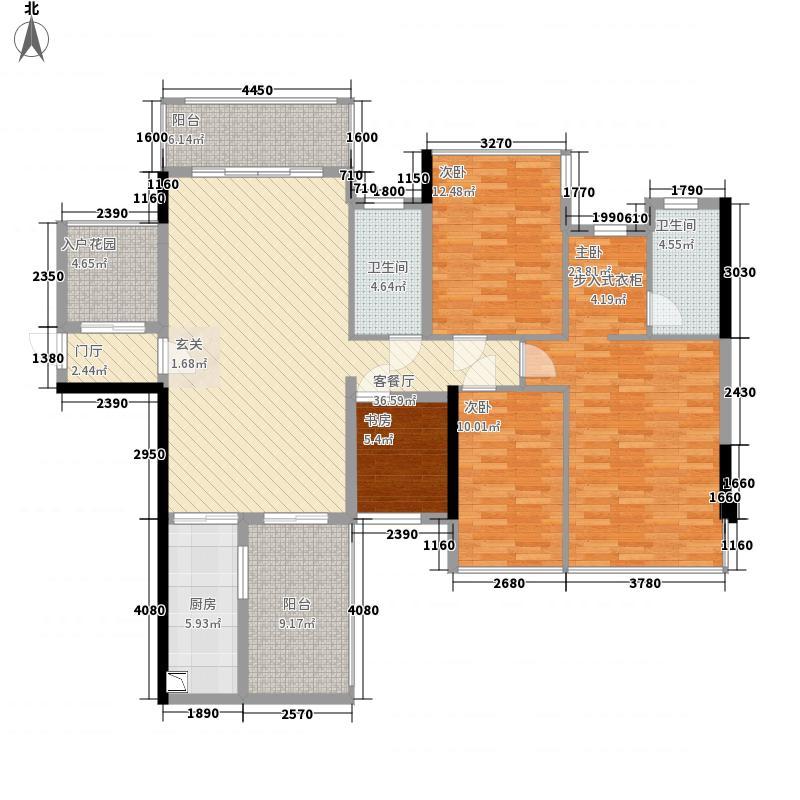 盛天公馆|88街区128.00㎡5#楼A座01户型3室2厅2卫1厨