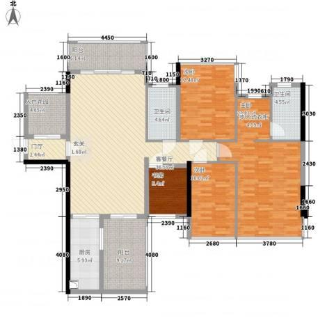 盛天公馆|88街区4室1厅2卫1厨128.00㎡户型图