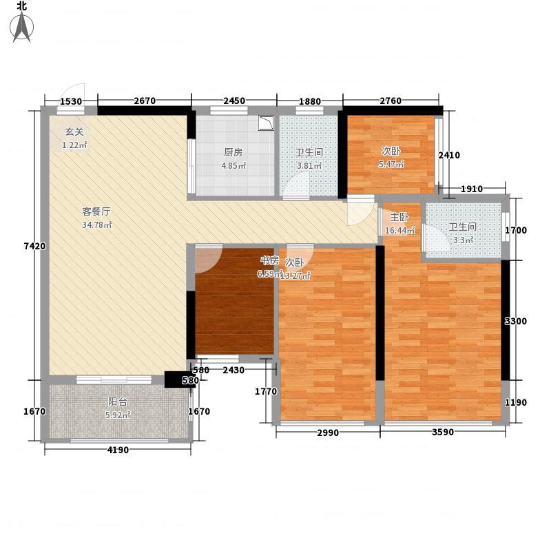 盛天公馆|88街区2#楼03户型3室2厅2卫1厨